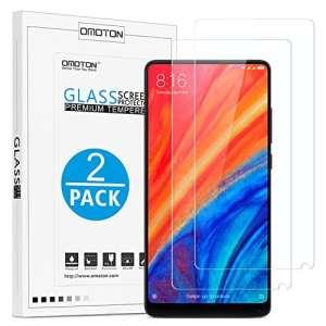 OMOTON [2 Pièces] Film Xiaomi Mi Mix 2/2S en Verre Trempé, [9H Dureté] [Ultra Clair] Protecteur D'écran Résiste aux Rayures pour Xiaomi Mi Mix 2/2S