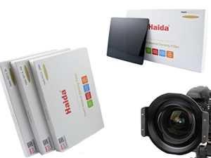 Porte-filtre de haute qualité en métal marque HAIDA pour 150 série plug-in filtre pour le Tamron SP 15-30mm f2.8 Di VC USD et l'appariement Ensemble de Haida Optique composé de trois filtres ND différents de la taille de 150 mm x 150 mm – ND0.9 (8x) / ND1.8 (64x) / ND3.0 (1000x)