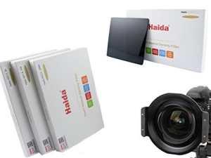 Porte-filtre de haute qualité en métal marque HAIDA pour 150 série plug-in filtre pour le Tokina AT-X 16-28mm f/2.8 Pro FX et l'appariement Ensemble de Haida Optique composé de trois filtres ND différents de la taille de 150 mm x 150 mm – ND0.9 (8x) / ND1.8 (64x) / ND3.0 (1000x)