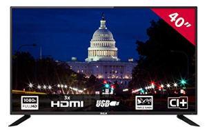 RCA RB40F1: 102 cm (40 Pouces) téléviseur LED (Full HD, Tuner Triple, HDMI, Lecteur multimédia Via USB 2.0) [Classe énergétique A]