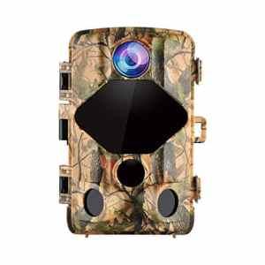 Wansview Caméra de Chasse 16MP 1080P IP56 Imperméable, Caméra de Jeu avec Détection de Mouvement et Angle de Vision de 120 Degrés/Portée en Mode Vision de Nuit 20 Mètres T01
