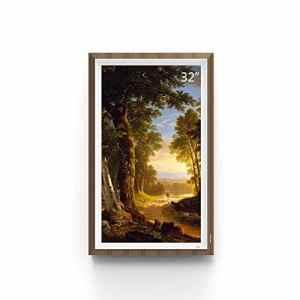 XIAOXIN 32 Pouces 1920×1080 Haute définition Photo numérique Cadre galerie d'art numérique en Teck Couleur Cadre Affichage pour la Maison, Chambre à Coucher, Salle de séjour, etc.