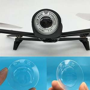 Yx Parrot Bebop 2 Drone / FPV Caméra Protection Lentille Protection Transparente Lentille Poussière Caméra Objectif Protection Transparent (Blanc)