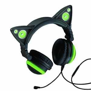 Casque Audio Oreilles de Chat – Cat Ear Headphone Axent Wear – Vert