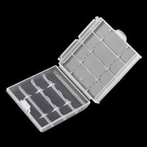 Portabatterie in plastica rigida Con custodia rigida in plastica 6cm × 1.5cm × 6cm