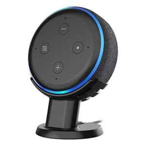 SPORTLINK Support de Bureau pour Echo Dot 3ème génération, Support de Table pour Dot 3ème génération, Facile d'Interagir avec Votre Dot 3ème génération (Support de Bureau-Noir)