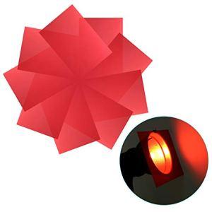 Neewer Lot de 9 Filtre de Gel, 30x20cm Film Plastique Coloré Transparent Correction de Couleur pour Photo Studio Flash Studio LED Lumière de Vidéo DJ Lampes etc. (Rouge)