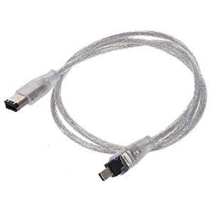 Ogquaton Câble USB FireWire USB-IEEE 1394 Haute qualité à 4 Broches (1,2 mètre) Durée de Vie aléatoire 1