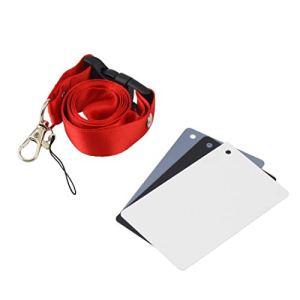 DFHJSXDFRGHXFGH-FR Appareil Photo numérique 3 en 1 de Poche 18% de Cartes Balance Blanc Noir avec bandoulière pour la Photographie numérique