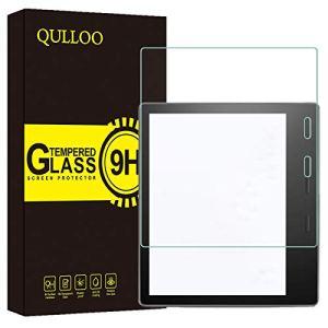 QULLOO Verre Trempé pour Nouveau Kindle Oasis 2019 Protection Écran Film Protection Ultra Résistant Dureté 9H Protecteur D'écran pour Amazon Kindle Oasis (10ème / 9ème génération, modèle 2019/2017)