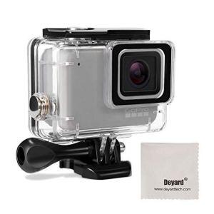 Deyard Boîtier étanche pour GoPro Hero 7 Blanc GoPro Hero 7 Silver avec Fixation Rapide et vis à Oreilles 45 mètres