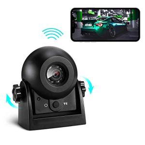 Caméra de recul sans Fil, Uzone WiFi Caméra de recul magnétique Super Vision Nocturne/étanche IP68 Caméra de recul pour Camion, Camping-Car, camionnette, remorque