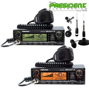 President Grant II Asc Premium Version Portable Radio CB avec Comtechlogic Cm-3000ant CB Antenne
