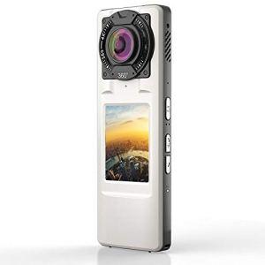 GJJ 720 caméra panoramique 360 ° HD 4K qualité Double caméra,Blanc,A