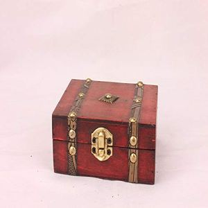 Portable Antique Storage Box Small Wood Box for Scene Shooting Decoration