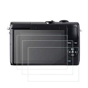 Protection d'Ecran Compatible avec EOS M6/M50/M100/PowerShot G1X Mark III/Powershot G9X II/Powershot G7 II, (Lot de 3) 9H Anti éraflure Protecteurs Imperméables en Verre Trempé Optique pour Caméra