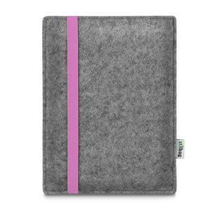 stilbag Leon Étui pour liseuse Amazon Kindle Oasis 9 Génération, Feutrine Gris Clair – élastique Rose