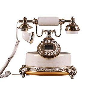 Antique européenne Téléphone Jade American Retro Vintage de abonnement téléphonique fixe sans mains libres d'alimentation CA Dialing minuterie d'alarme Appel de stockage for Salon Chambre Étude Restau