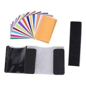 camellia® 12pcs carte de couleur pour Strobist Flash Gel Filtre Couleur Balance avec diffuseur à bande de caoutchouc Éclairage Pour/Pour (coloré)