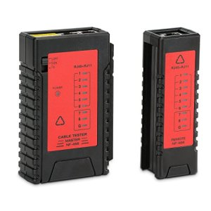 Incutex testeur Ligne câble Patch testeur câble RJ45 RJ11 détecteur localisateur câble wire Tracker, Rouge-Noir