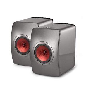 KEF LS50 Wireless Titane – Enceintes Hi-FI sans Fil – Système de Musique Active et stéréo