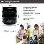 7Artisans 55mm F1.4Grande ouverture de Portrait mise au point manuelle Micro Caméra objectif pour appareils photo Fuji: X-A1, X-A2, X-at, X-M1, XM2, X-T1, X-t2, X-T10, X-Pro1, X-E1, X-E2et Tuyung Chiffon