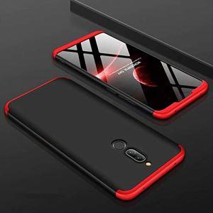 AILZH Housse Compatible pour Coque Xiaomi Redmi 8 Coque Rigide Hard Shell Housse Protection Totale Antichoc Pare-Chocs Bumper Anti-Rayures Cover Case Matte(Rouge Noir)