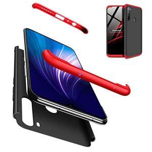 AILZH Housse Compatible pour Coque Xiaomi Redmi Note 8 Coque Rigide Hard Shell Housse Protection Totale Antichoc Pare-Chocs Bumper Anti-Rayures Cover Case Matte(Rouge Noir)