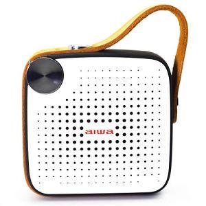 Aiwa Square BS-100BK Enceinte Portable Bluetooth Micro SD FM Étanche Finition Cuir