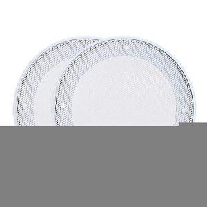 Alinory 2PCS 4inch Grills Haut-Parleur Couverture De Protection Acier Laminé À Froid + ABS Haut-Parleur Grills Décoration(Blanc + Blanc)