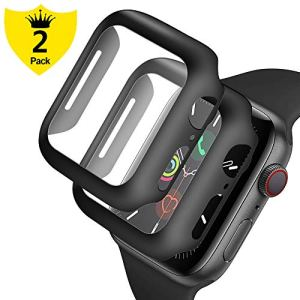 Alinsea pour Apple Watch 44mm Protection Écran [Lot de 2], [Anti-buée] [HD 9H dureté] [Pas de Bulles] [étanche] [Facile à Installer] Verre trempé iWatch 44mm Series 5/Series 4/Hermès/Nike+ Edition