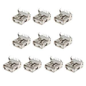 Almencla 10x Connecteur Femelle Type A Femelle à Angle De 90 ° USB