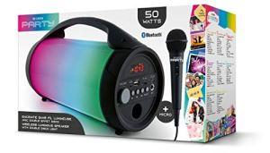 Bigben Interactive PARTYBTLITE Enceinte Portable 50 W Noir – Enceintes Portables (50 W, avec Fil &sans Fil, Micro-USB,USB Type-A, Noir, Rotatif, Universel)