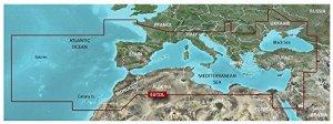 Carte BlueChart G3 Vision Large VEU723L – Sud de l'europe – GARMIN