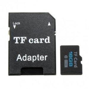 Carte mémoire Micro SD TF Secure Digital Haute Vitesse 16 Go Classe 6 avec Adaptateur