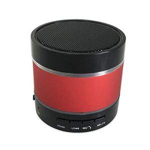 Creamon Haut-Parleur sans Fil Bluetooth, Haut-Parleur sans Fil Bluetooth Mini LED Musique Audio Micro SD USB Stéréo Son Haut-Parleur Rouge