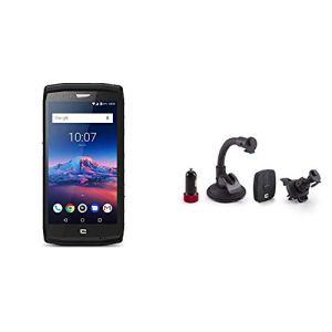 Crosscall Trekker-X4 Smartphone débloqué 4G (Ecran : 5,5 Pouces – 64 Go – Nano-SIM – Android) Noir + X-Car Kit de Charge et Fixation pour Voiture Magnétique