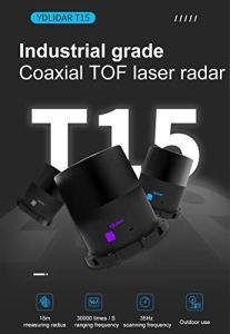 EAI YDLIDAR G2 Lidar Module de capteur de portée 12 m 5 K fréquence pour l'intérieur et l'extérieur