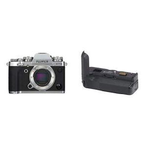 Fujifilm Appareil photo compact hybride X-T3 26,1 Mpix Argent/Noir + Vg-XT3 (grip d'alimentation vertical)