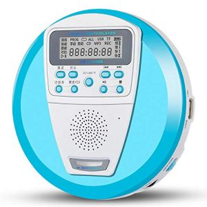 GDS CD Portable, baladeur Répéteur, Président TF Carte U Disque Lecteur Tilt Machine Salut-FI Haut-parleurs USB MP3,Noir