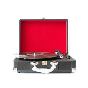 Haut-parleur Rétro Platine tourne-disque Bluetooth valise tourne-disque Machine d'enregistrement Vinyle Vintage Multi-fonctionnel Phonographe Tourne-disque Bluetooth Haut-parleurs valise Platine Avec