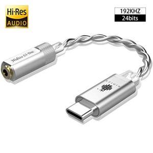 Hidizs S3 ampli Casque Portable, USB C DAC/amplificateur Audio pour Android/Windows/Système MacOSX Smartphone pour Ordinateur Portable (Argent)