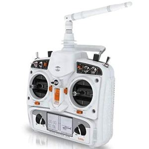 HLW Sports Emetteur récepteur Devo 10 2.4G 10CH Devention RC numérique émetteur sans récepteur (Couleur : Blanc, Taille : Mode 2)