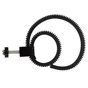 JVSISM R Lentille reglable et Flexible Servant a Suivre la Ceinture de l'anneau?du Foyer pour DSLR Camescope Camera Noir