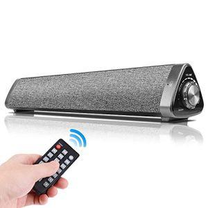 Kanqingqing Haut-parleurs Bluetooth sans Fil Bluetooth 5.0 Subwoofer Mains Libres Soundbar avec Prise en Charge de contrôle à Distance Carte TF USB-DAC 10W pour Voiture de Fête et Cadeau