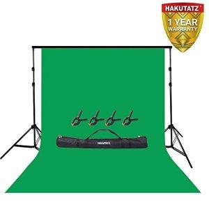 Kit de Support pour arrière-Plan Studio 2 x 2 m Système de Support pour arrière-Plan 2 x 3 m Vert Chromakey Background Idéal Youtube, Montage vidéo, Studio Photography, Portrait Pictures by Lencarta