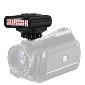 Lampe de Vision Nocturne Infrarouge pour Appareil Photo,Lumière de Vision Nocturne de USB de Photographie avec Distance de Prise de Vue de 20M et Capacité de Batterie de 2100mAh pour le Caméscope