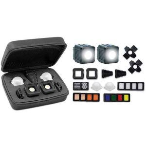 Lume Cube 2.0 Kit d'éclairage Professionnel, 2 Lumières tous les Diffuseurs et Modificateurs, Pro Kit