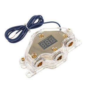 MagiDeal Bloc De Distribution D'énergie Audio Alimentation De Voiture Bloc + Voltmètre SKPD-025