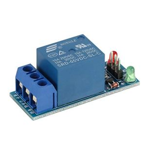 Mini 1 Kanal DC 5V Low Level Trigger Interface Board Relaismodul mit LED-Lampe Schutz Kit für Electronic – Blau